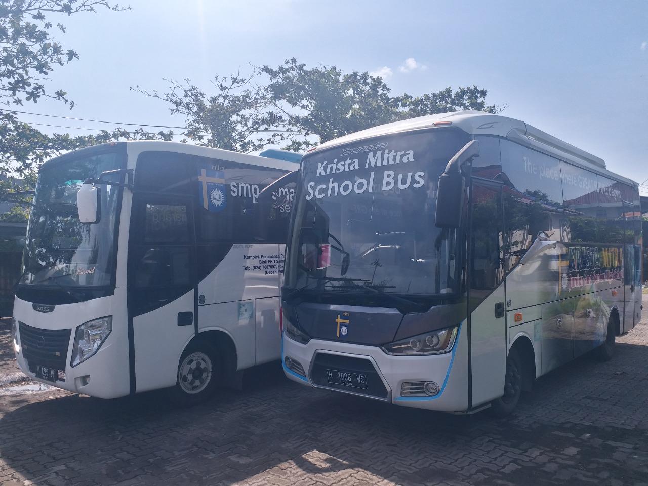 Armada Bus Krista Mitra Siap Antar Jemput