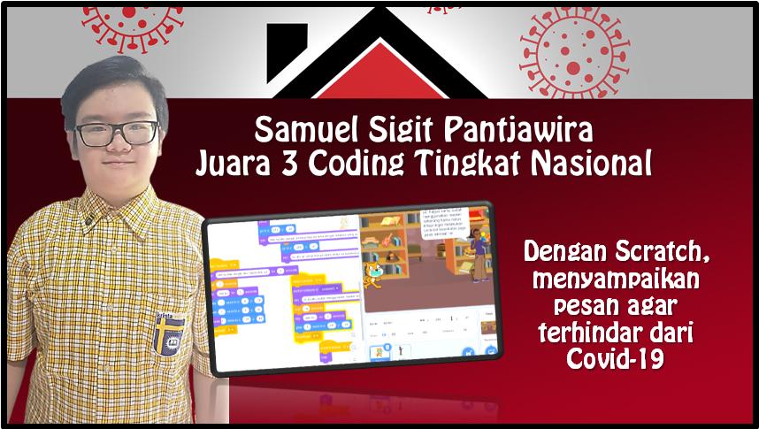 Samuel Sigit, Juara Ke-3 Coding Tingkat Nasional