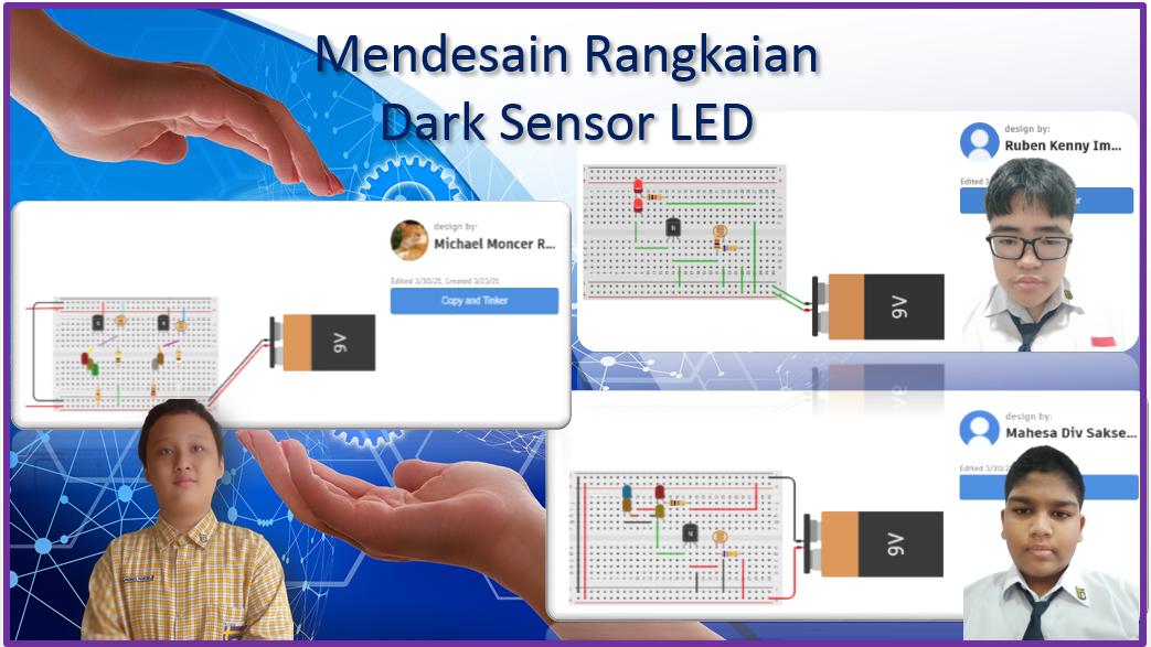 Mendesain Rangkaian Dark Sensor LED
