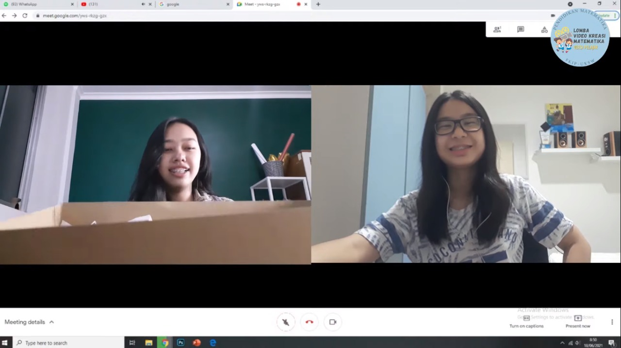 Siswi SMA Krista Mitra mengikuti Lomba Video Kreasi Matematika UKSW