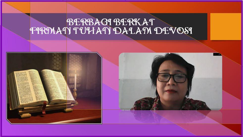 Berbagi berkat Firman Tuhan dalam Devosi